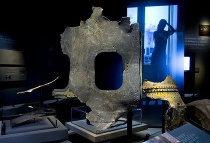 A piece of plane wreckage<br/>