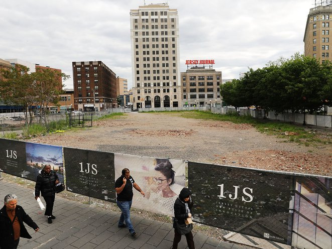 The Jersey City property in Journal Square that Kushner Companies is still looking to develop.<br>