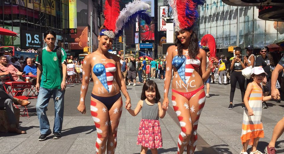 NYPD Goes Easy On Naked Times Square Panhandlers Because