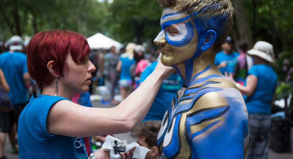 NSFW Photos: Dozens Of Totally Naked People Get Painted In