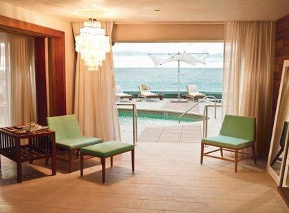 A poolside cabana<br/>
