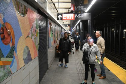The renovated station on September 8, 2017 (Patrick Cashin / MTA)
