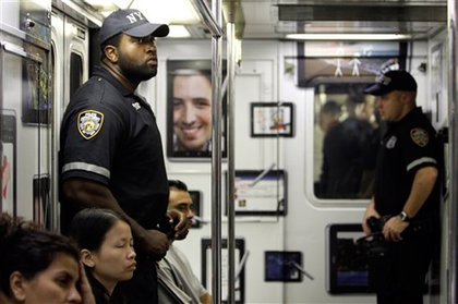 Police increased security on the subways yesterday.