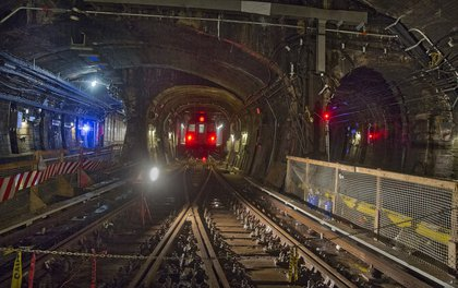 Fix & Fortify work on the Montague Tunnel (MTA Photos)