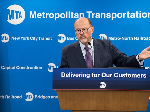 MTA Chairman Joe Lhota delivering the agency's action plan in July