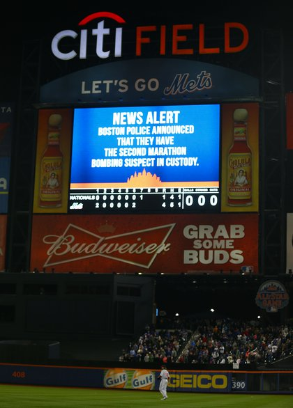 Mets fans got an update during last night's game at CitiField