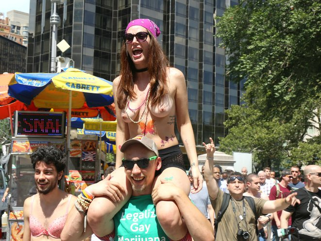 Naked girls at events Nsfw Photos Nyc Women Go Topless For Annual March Gothamist