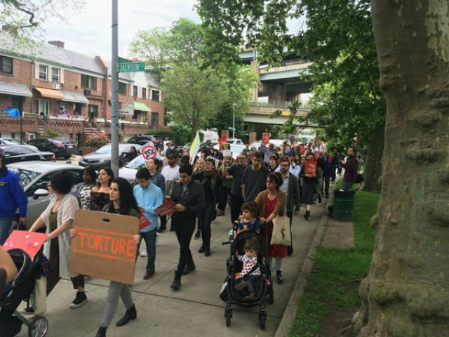New Yorkers protest the detention of Pablo Villavicencio by ICE