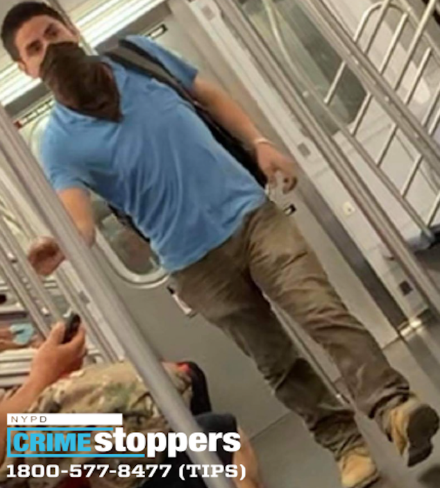 NYPD released a photo of a man in early August wanted for questioning in connection with dozens of incidents of smashed windows on subway lines.