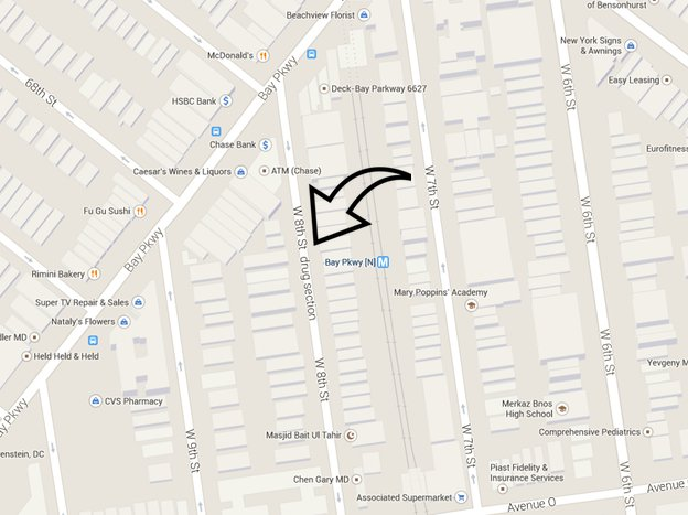 Google Maps Labels Brooklyn Block As 'Drug Section' - Gothamist on google maps street view, google earth update 2014, google sky, google maps updated 2012, google search,