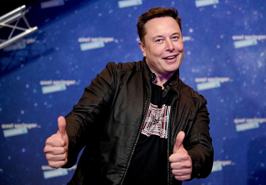 Elon Musk at the Axel Springer media award ceremony in Berlin, December 1st, 2020.