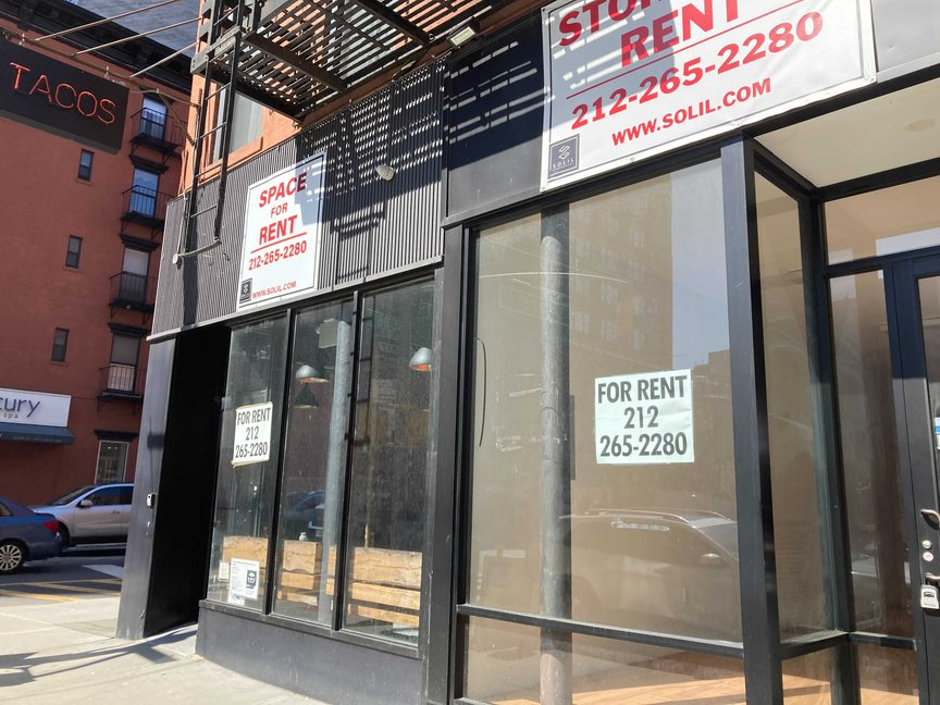 Several vacant storefronts along Third Avenue