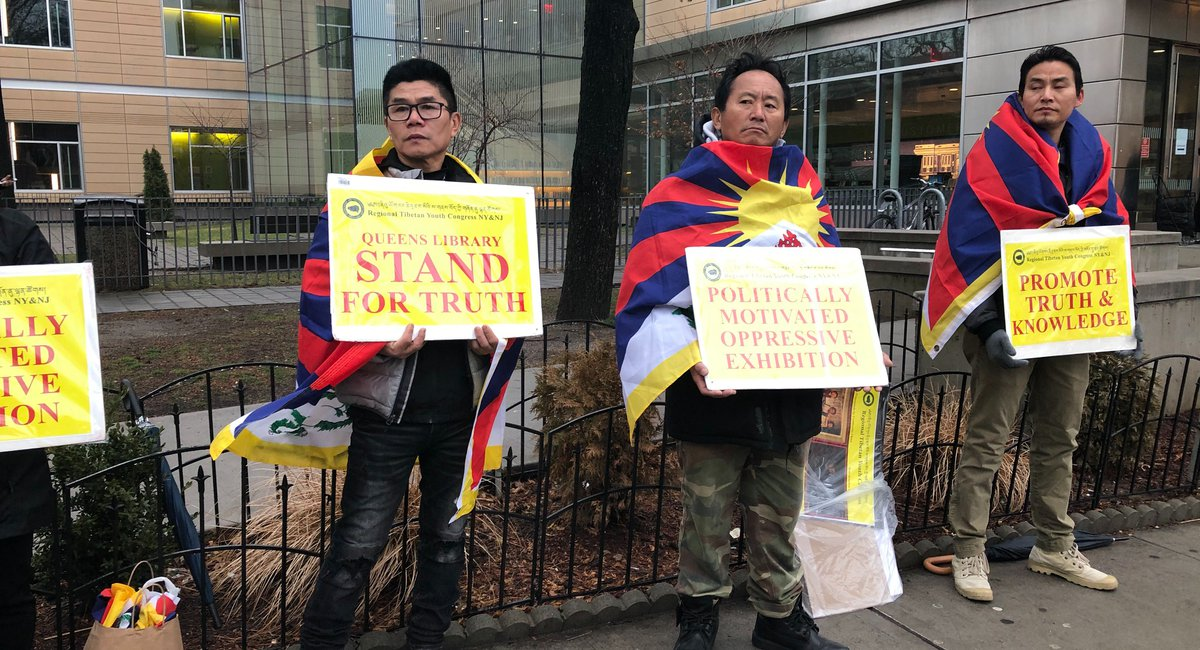 Tibetan New Yorkers Claim Queens Library Exhibit About Tibet Is Chinese Propaganda
