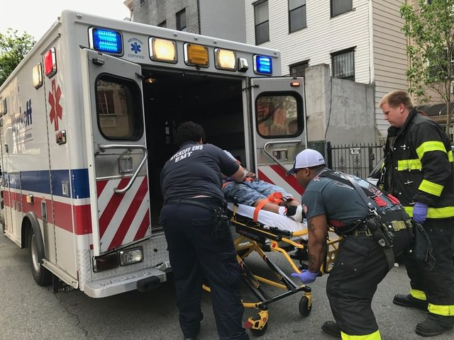 One of several overdose victims on Jefferson Street on Sunday afternoon