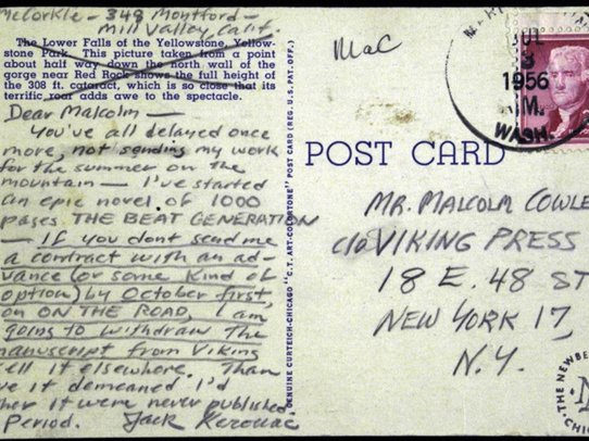 Here's The Handwritten Ultimatum Jack Kerouac Sent Publisher