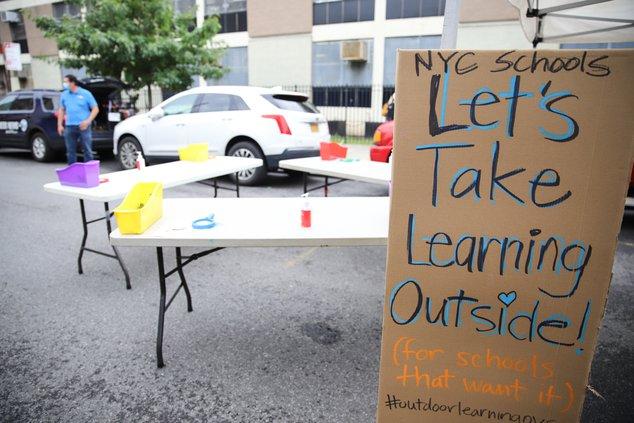 Let's take learning outside sign