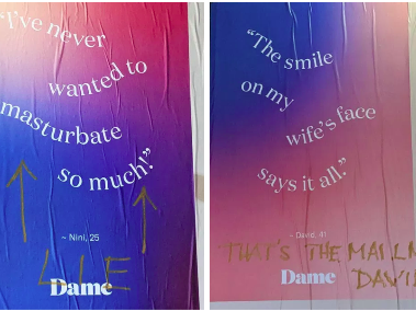 Cops arrested a Brooklynite for defacing these ads, which appear to be posted illegally