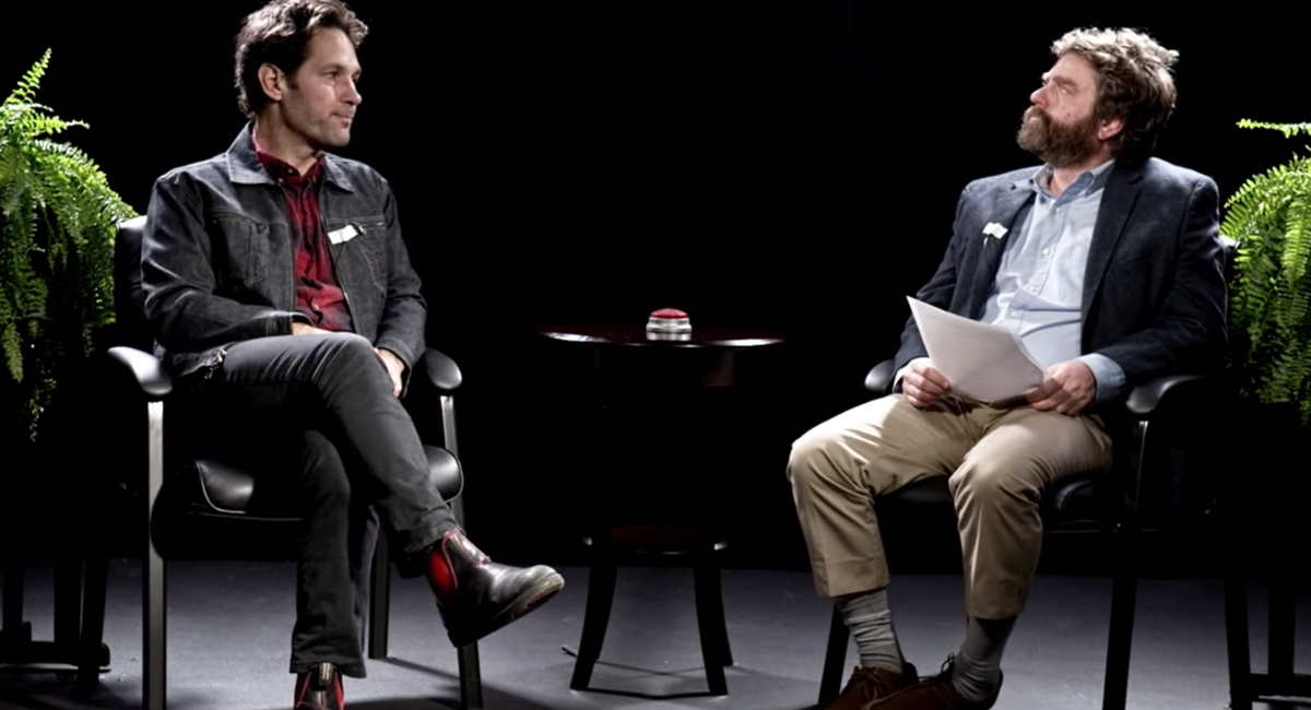 Video Paul Rudd Gets Grilled On Between Two Ferns Gothamist