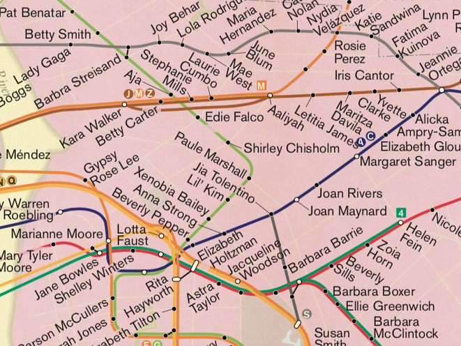 City Of Women' Subway Map Gets A 2019 Update - Gothamist Map City on