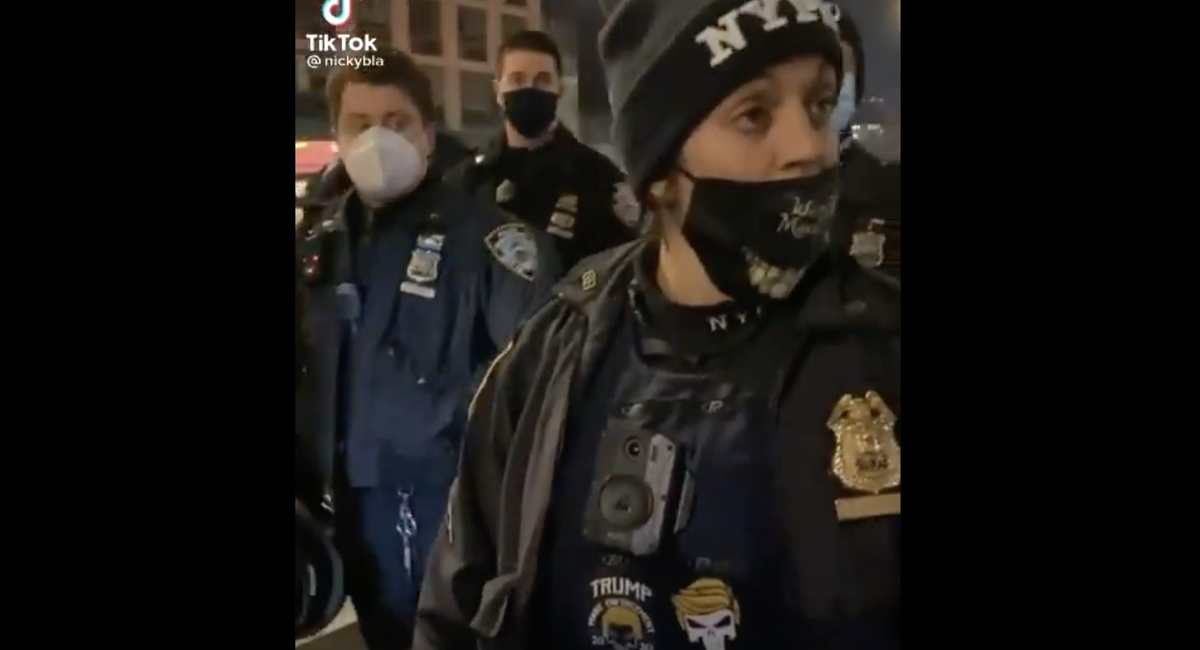 NYPD Disciplines Officer Seen Wearing Pro-Trump Patches While On Duty