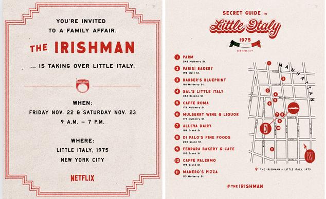 Netflix's Irishman invite
