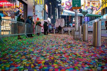 A carpet of confetti