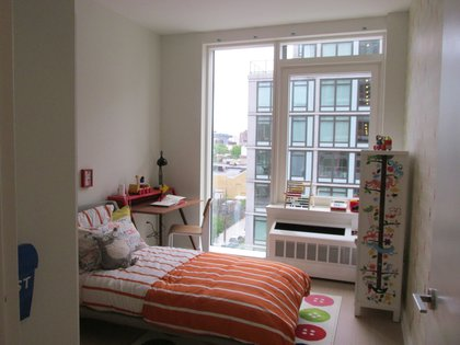 A bedroom set up for a child in a three-bedroom unit<br/>