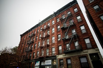 Tenement-style apartments along Alexander Avenue.