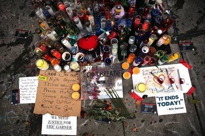 A memorial where Garner died<br/>