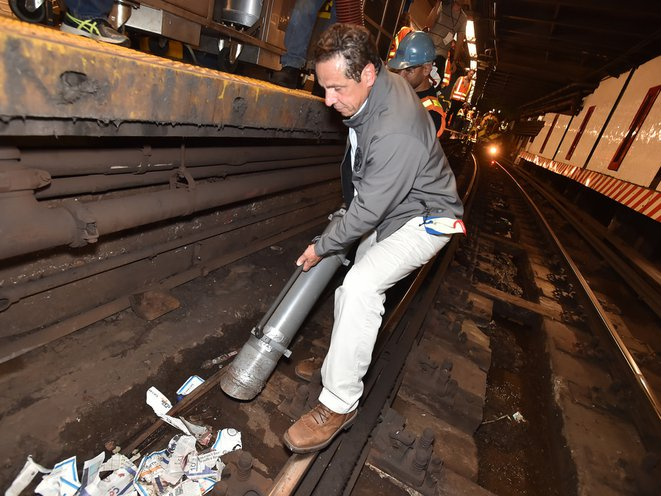 The governor, collecting all of your tweets, while cursing the day he brought WiFi to the subway<br>
