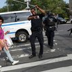 Police officers outside Bronx Lebanon Hospital (Getty Images)