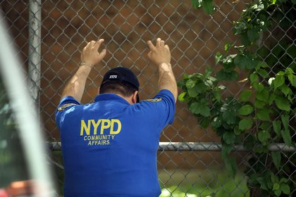 An officer in East New York