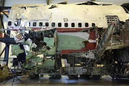 Wreckage of Flight 800<br/>