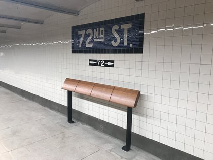 """Leaning """"benches"""" (Jen Chung / Gothamist)"""