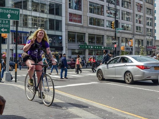 Aurilla Lawrence, a 25-year-old bike messenger, was killed in Brooklyn in February