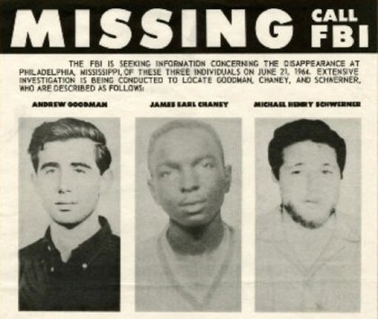 Part of the MISSING poster for the three men<br/>