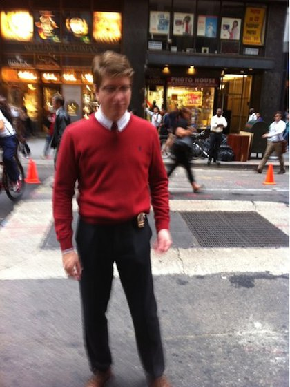 """Hipster Cop in a soft sweater. (<a href=""""https://imageshack.com/lost/o02gqibj"""">via</a>)"""
