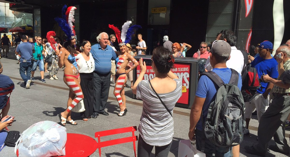 Topless Painted Women Get Times Square Welcome From