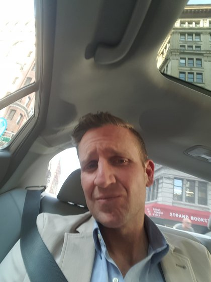 White in his Uber X (Paul Steely White)