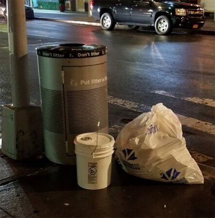 The bucket found on December 13<br>