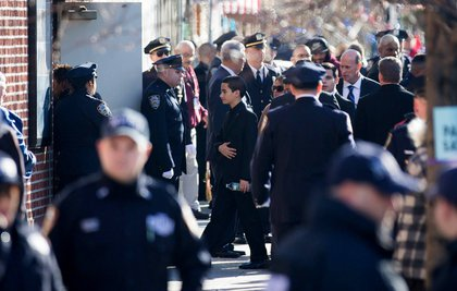 Jaden Ramos, 13, heads into his father's wake<br/>