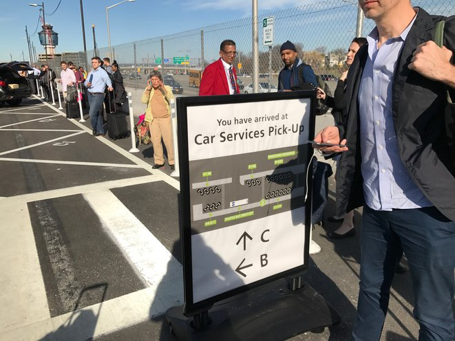 Laguardia S New For Hire Vehicle Pickup System Is A