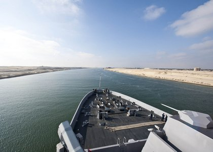 In the Suez Canal