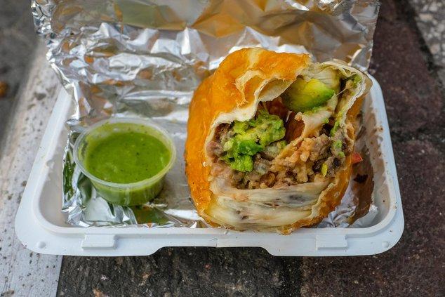 Steak Burrito, at Nene's Deli ($10)