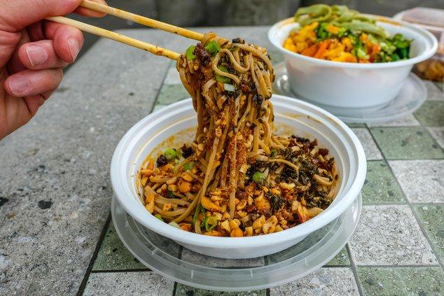 Chengdu Dan Dan Noodles, at Public Village ($8)