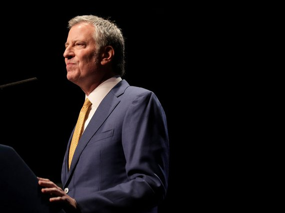 Mayor Bill de Blasio speaks at his State of the City address in New York earlier this month