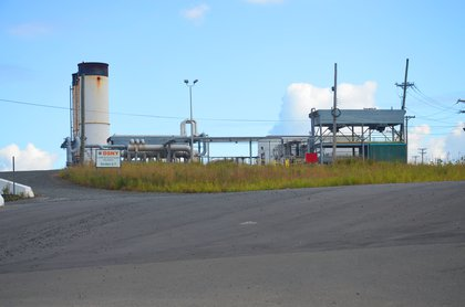 Gas control flare stationat Freshkills Park. There are three of these. When the purification and processing facilities are offline, the excess gas is burned off at these sites.<br/>