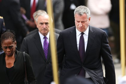 Police Commissioner Bratton and Mayor de Blasio
