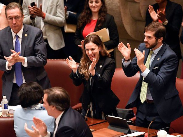 Alessandra Biaggi celebrates the passage of stronger workplace sexual harassment measures.