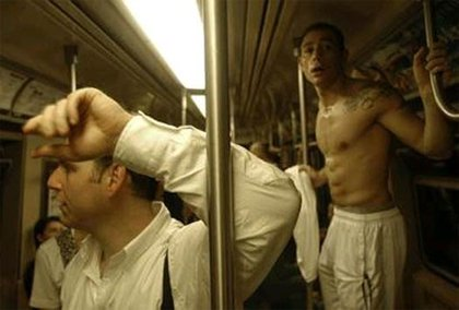 Trapped on a subway.